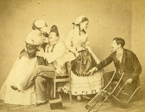 Theater Actors Tunis Second Empire French Presence Old CDV Photo Delintraz 1860