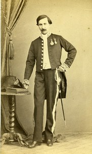 Unknown Man Tunis Second Empire French Presence Old CDV Photo Denisse 1860
