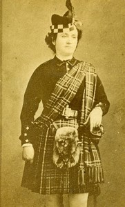 Edinburgh Opera Mezzo Soprano Galli Marie Carmen Old Moffat CDV Photo 1870