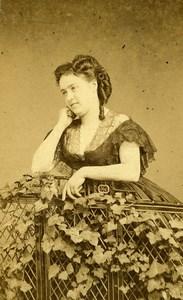 France Paris Theater Actress Miss Riquier Theatre Old CDV Photo Cremiere 1870