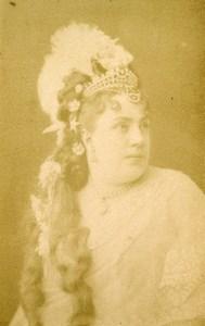 France Paris Opera Soprano Theresa Tietjens Old CDV Photo Nadar 1870's