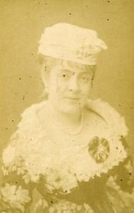 France Paris Opera Actress Anna Judic Offenbach Old CDV Photo Nadar 1870's