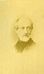 Giuseppe Mazzini Italian unification Italy Old CDV Photo 1860's