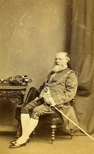 Lord Mayor of Leicester Thomas William Hodges? Old CDV Photo Mc Lean 1860's