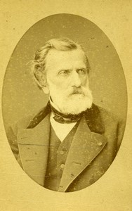 France Paris Composer Ambroise Thomas Autograph Old Mulnier CDV Photo 1870