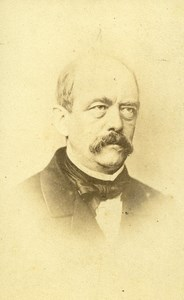France Paris Otto von Bismarck German Politics Old CDV Photo Numa Blanc 1870