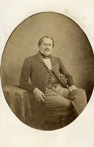 France Paris Baron Jules de Lesseps ancienne Photo CDV Delintraz 1862