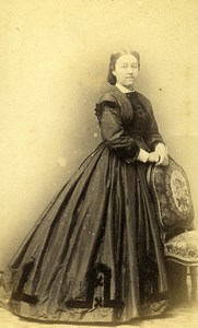 France Paris Woman Second Empire Fashion Old CDV Photo Penabert 1860's