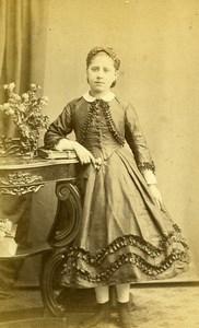 France Paris Femme Mode Second Empire ancienne Photo CDV Charavet 1860's