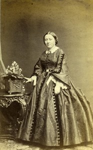 France Paris Woman Second Empire Fashion Old CDV Photo Plumier 1860's