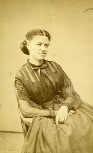 France Paris Woman Second Empire Fashion Old CDV Photo Mulnier 1860's