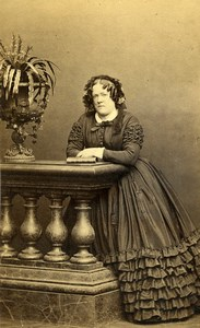 France Paris Woman Second Empire Fashion Old CDV Photo Mayer & Pierson 1860's
