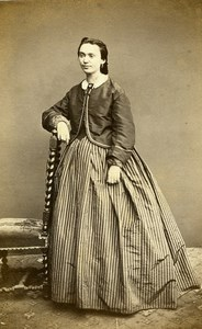 France Paris Woman Second Empire Fashion Old CDV Photo Sée 1860's