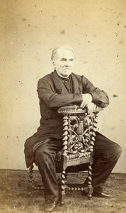 France Le Mans Man Second Empire Fashion Old CDV Photo Ferré 1860's