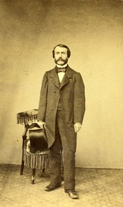 France Paris Man Fashion Second Empire Old CDV Photo Maujean 1860's