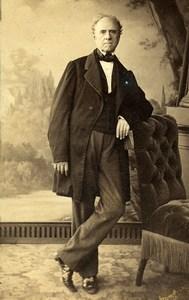 France Paris Man Fashion Second Empire Old CDV Photo Delintraz 1860's