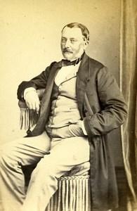 France Paris Man Fashion Second Empire Old Maury et Debas CDV Photo 1860's