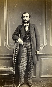 France Paris Man Fashion Second Empire Old CDV Photo Sée 1860's