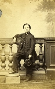 France Paris Boy in Uniform Fashion Second Empire Old CDV Photo Reutlinger 1860s