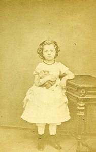 France Paris Young Girl Fashion Second Empire Old CDV Photo Truchelut 1860's