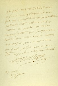 France Paris Photo of Autograph signed Alfred de Vigny CDV Mayer & Pierson 1860