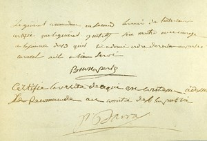 France Paris Photo of Autograph signed Bonaparte CDV Mayer & Pierson 1860