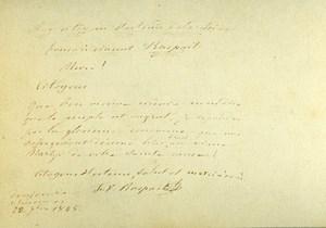 France Paris Photo of Autograph signed F.V. Raspail CDV Mayer & Pierson 1860