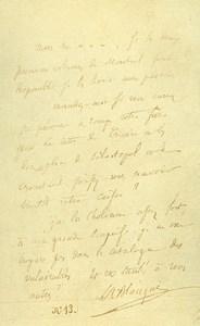 France Paris Photo of Autograph signed Blanqui CDV Mayer & Pierson 1860