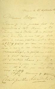 France Paris Photo of Autograph signed Count of Lanfeld CDV Mayer & Pierson 1860