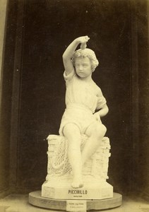 France Paris World Fair Pasquale Miglioretti Statue CDV Photo Léon & Lévy 1867