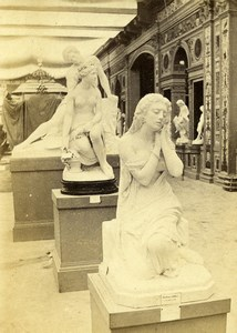 France Paris World Fair Italian Section Statue Old CDV Photo Léon & Lévy 1867