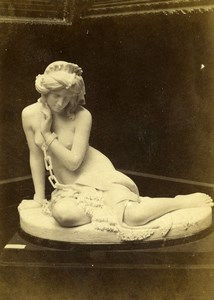 France Paris World Fair Statue The Slave Old CDV Photo Léon & Lévy 1867