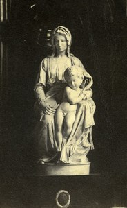 Madonna of Bruges Michelangelo Mary with the Child Jesus Old CDV Photo 1860's