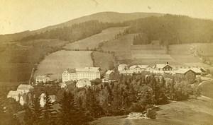 Czech Republic Jesenik Freiwaldau Panorama Old CDV Photo Springer 1870