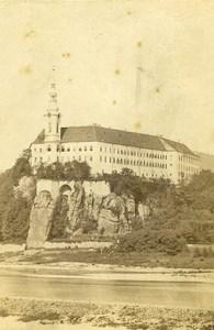Czech Republic Decin Tetschen Castle River Elbe Old CDV Photo 1865
