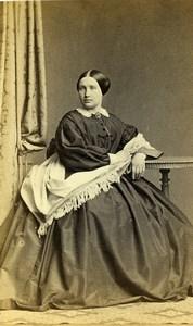 Allemagne Hambourg Femme Mode ancienne Photo CDV Siegmund 1870
