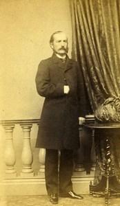 Germany Posen Man Fashion Old CDV Photo Filehne 1870