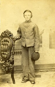 USA Indiana Richmond Child Boy Fashion Old CDV Photo Maxwell & Estell 1865