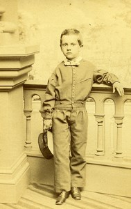 USA Boston Child Boy Fashion Old CDV Photo Lay's 1865
