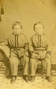 USA Myerstown Children Boys Fashion Old CDV Photo Blecker 1865