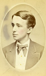 USA New York Boy Teenager Fashion Old CDV Photo Fredricks 1865