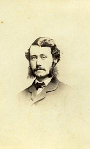 USA New York Man Sideburns Fashion Old CDV Photo Fredricks 1865