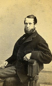 USA New York Bearded Man Fashion Old CDV Photo Fredricks 1865