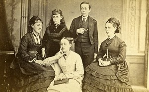 United Kingdom Sydenham Group Fashion Old CDV Photo Negretti & Zambra 1870