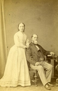 Isle of Wight Ryde Couple Father Daughter? Fashion Old CDV Photo Debenham 1870