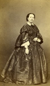 France Paris Woman Fashion Second Empire Old CDV Photo Pierson 1870