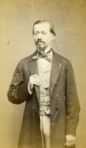 France Paris Alep Man Fashion Second Empire Old CDV Photo Numa Fils 1870