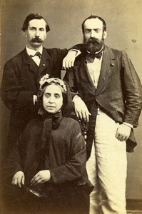 France Marseille Group Fashion Second Empire Old CDV Photo Adolphe Terris 1870