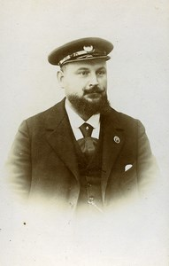 France Vincennes Bearded Man Uniform Fashion Old CDV Photo Mayer 1900