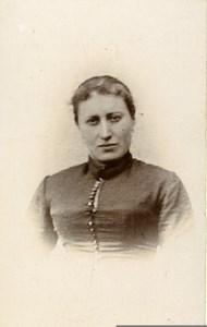 France Saint Etienne Woman Fashion Old CDV Photo Marius Marnas 1900